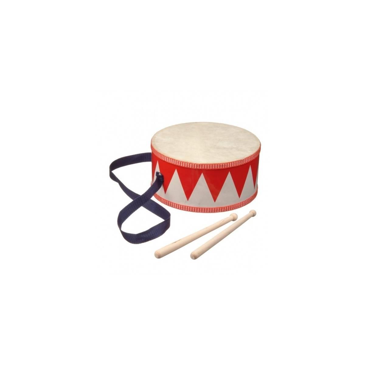 Tambour de fanfare en jouet bicolore