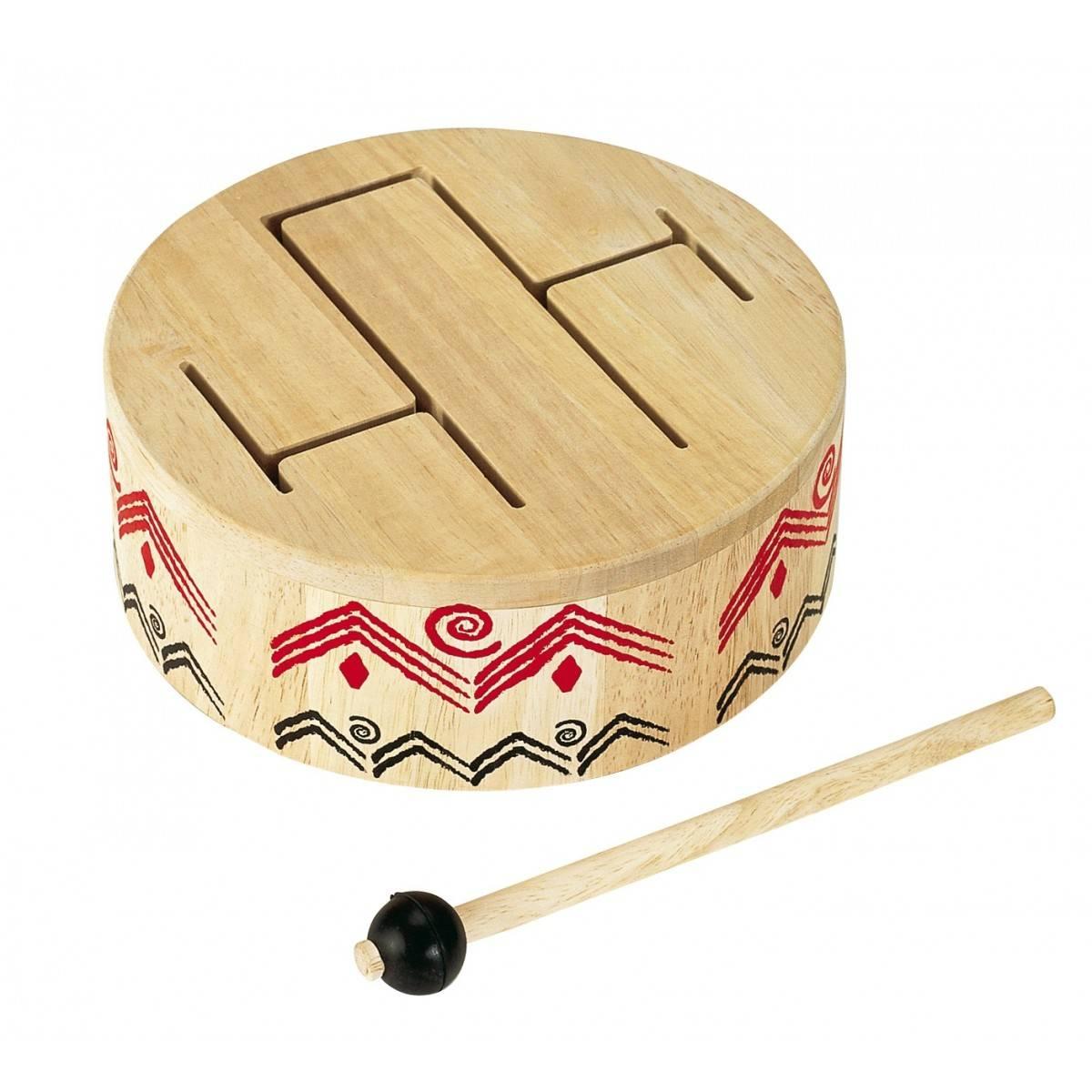 Tambour à fente  Percussions pour enfants  Eveil musical  ~ Instrument De Musique Caisse En Bois