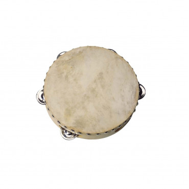 Tambourin Peau Naturelle & Cymbalettes 20 cm