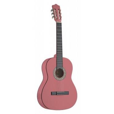 Guitare classique 4/4 tilleul rose