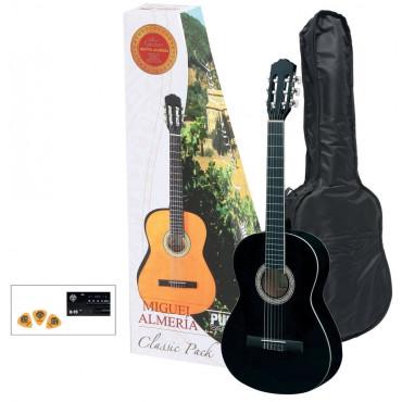 Pack Guitare Classique 4/4 Noir - Almeria Player Pack