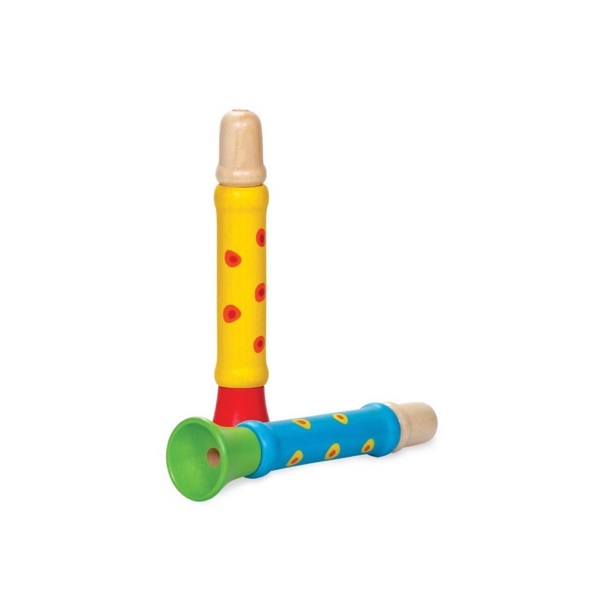 Sifflet-Trompette Bois Multicolore
