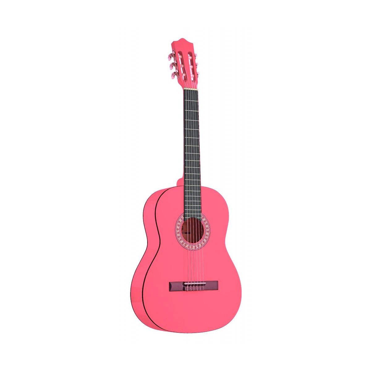 guitare classique enfant guitare 1 4 rose stagg. Black Bedroom Furniture Sets. Home Design Ideas