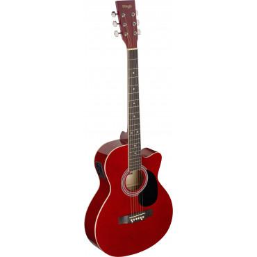 Guitare Folk Electro-Acoustique Rouge