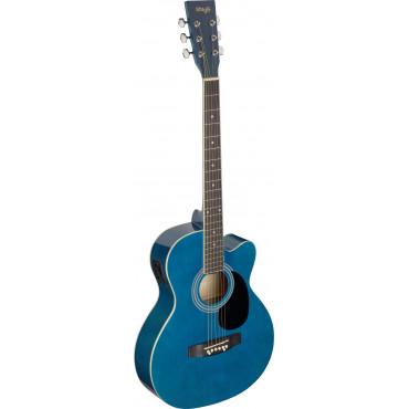 Guitare Folk Electro-Acoustique Bleu