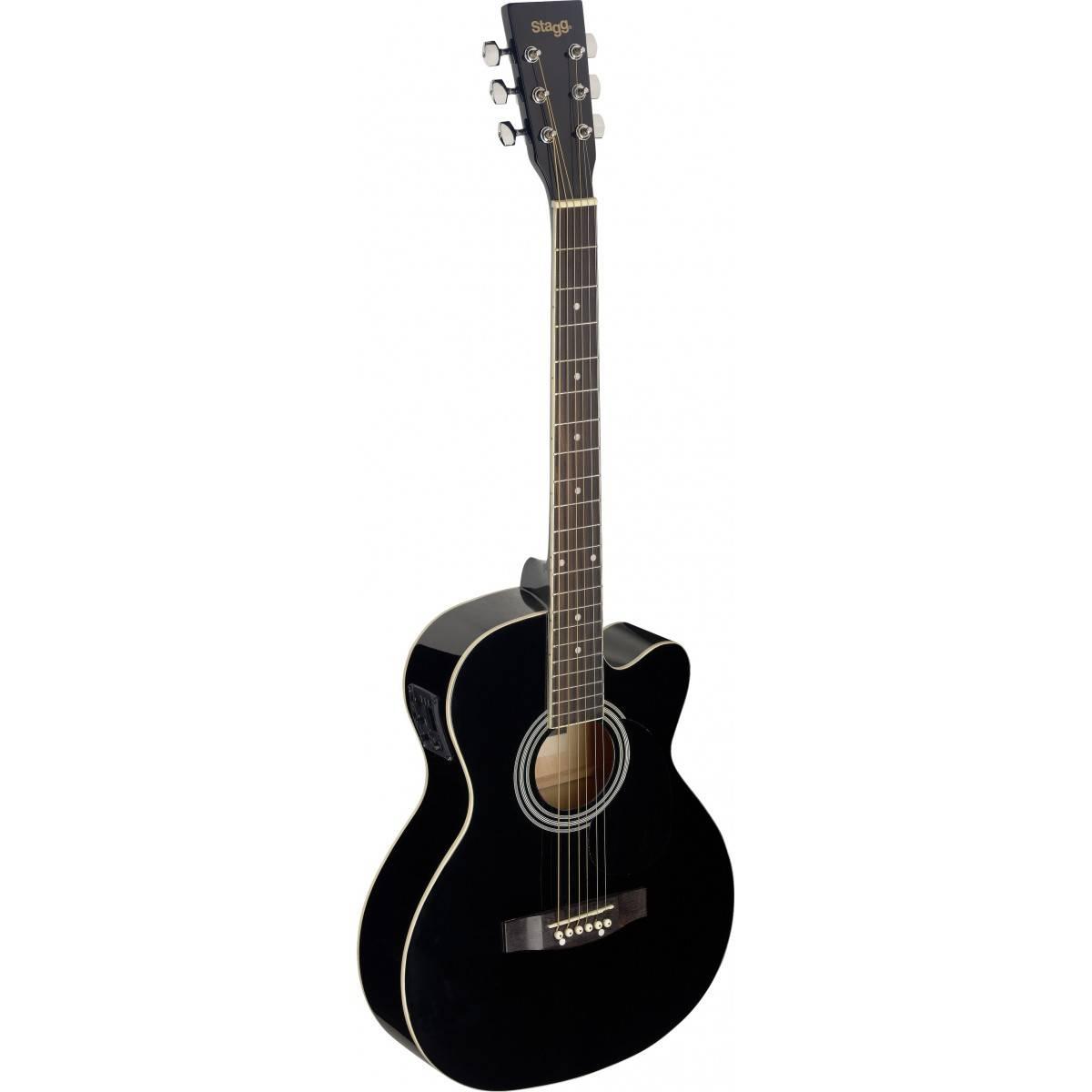 guitare folk electro acoustique noir taille 4 4 noizikidz. Black Bedroom Furniture Sets. Home Design Ideas
