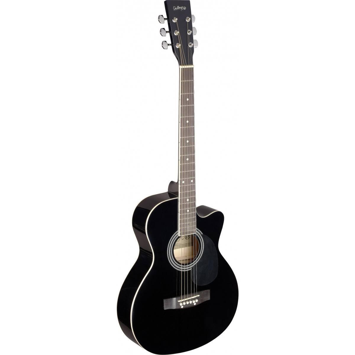 guitare folk acoustique noir taille 4 4 noizikidz. Black Bedroom Furniture Sets. Home Design Ideas