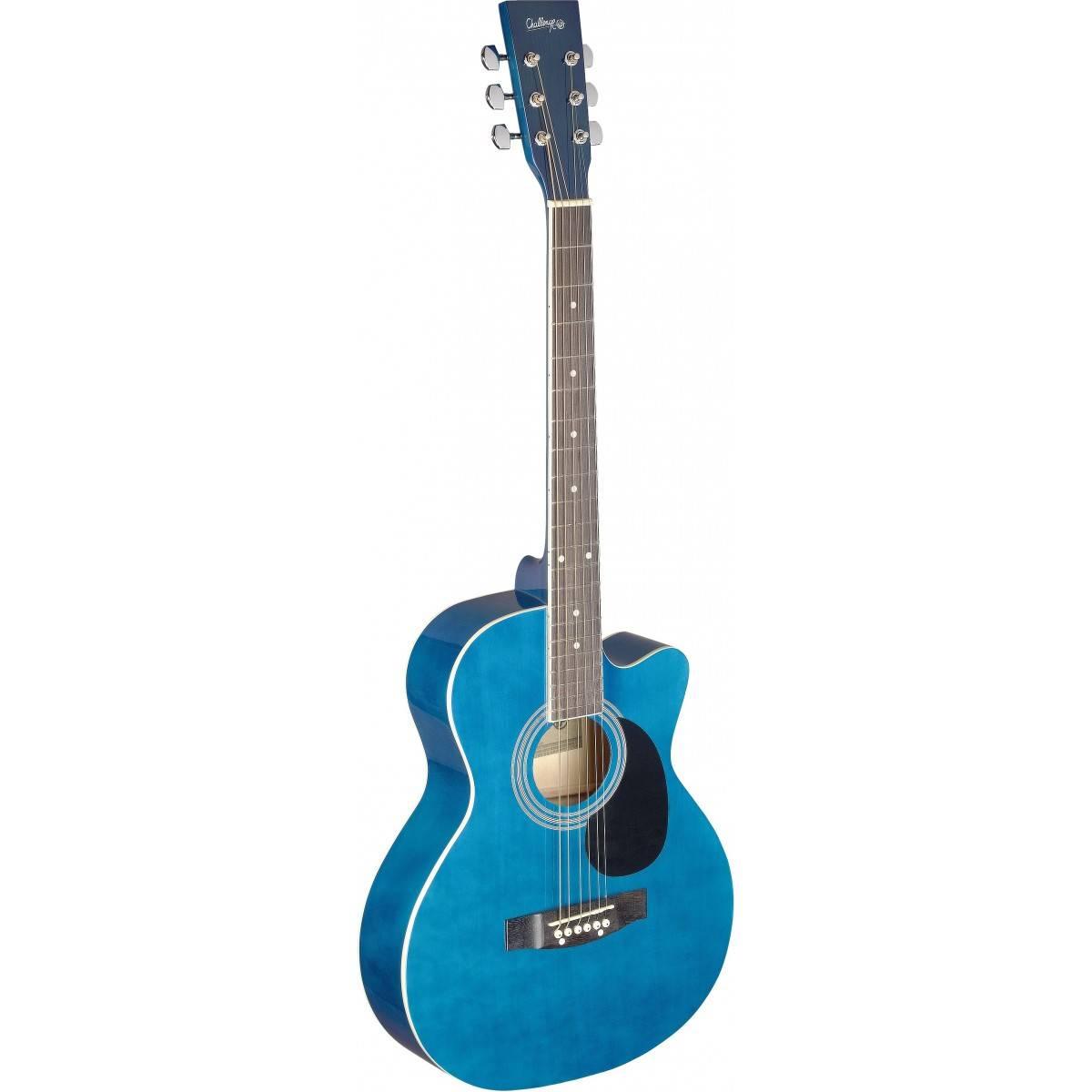 guitare folk acoustique bleu taille 4 4. Black Bedroom Furniture Sets. Home Design Ideas