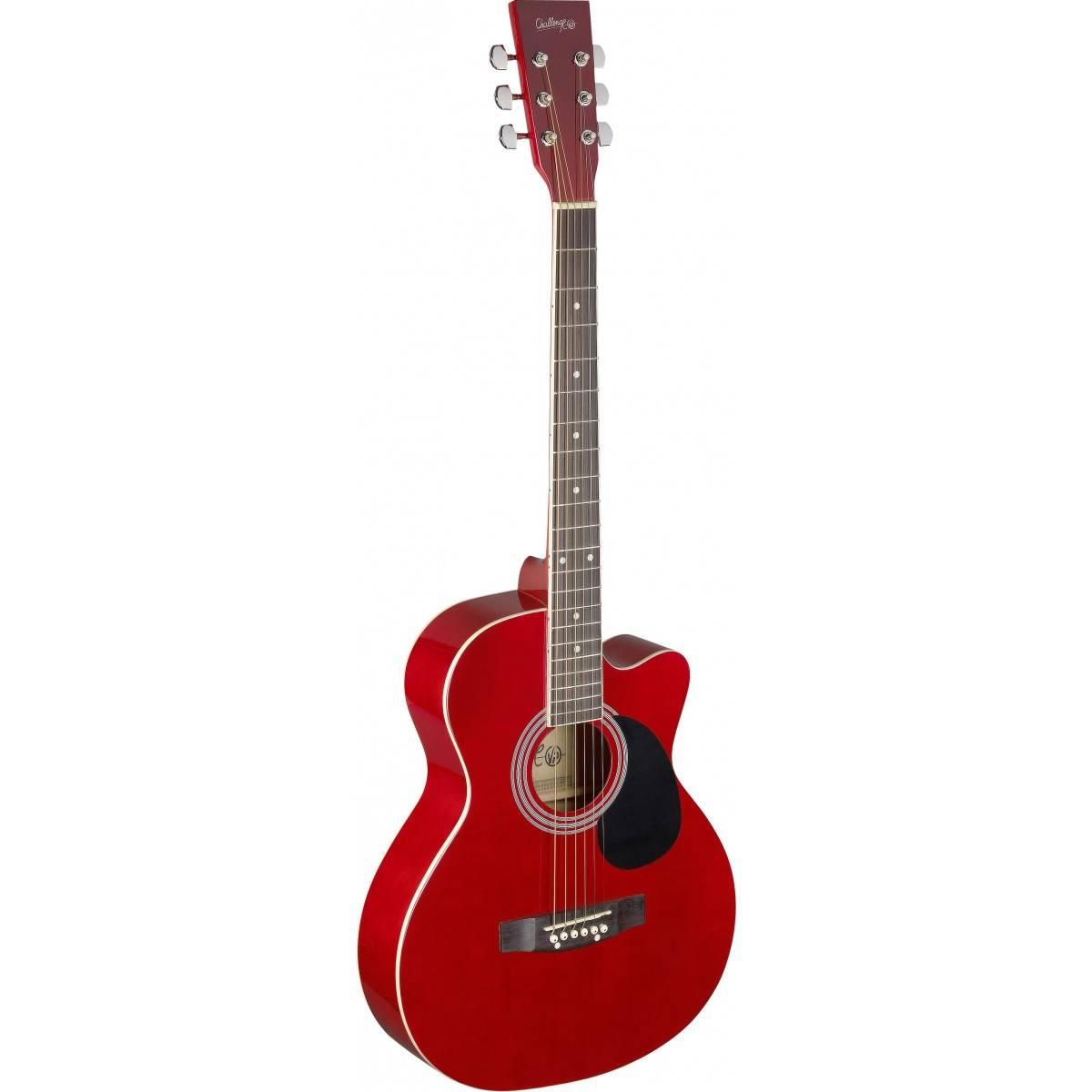 Guitare Folk Acoustique Rouge