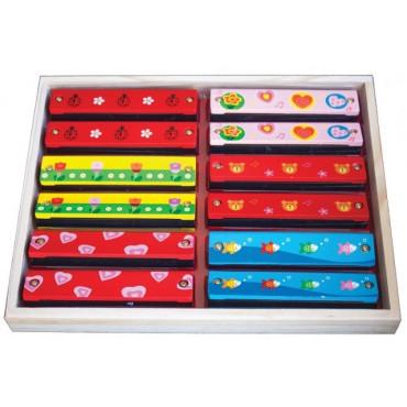 Harmonicas motifs colorés