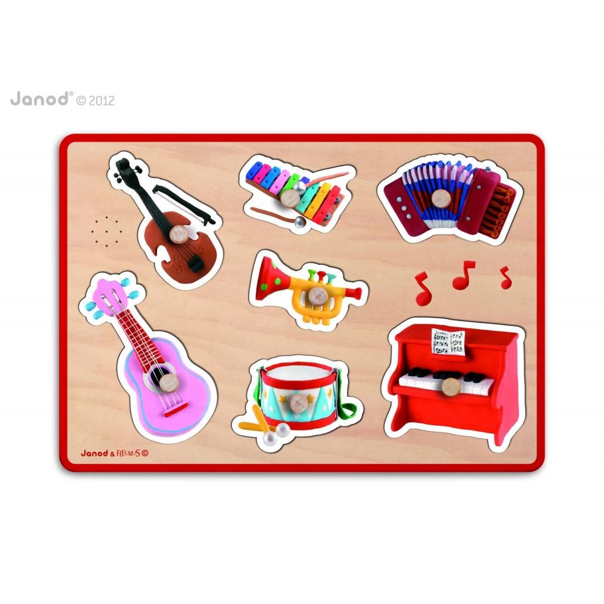 Puzzle d'éveil musical Instrument - 7 pièces