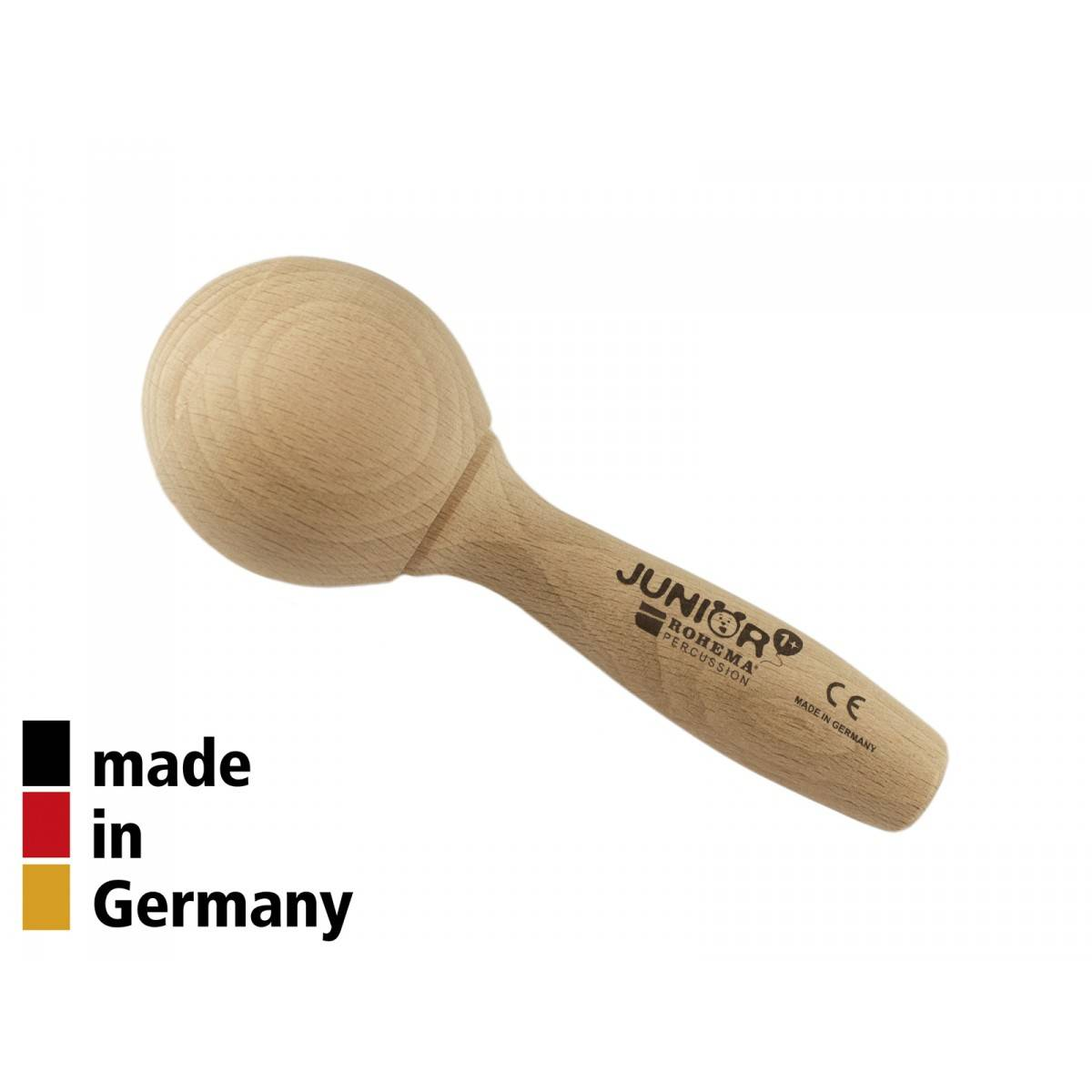 Mini Maracas Hêtre 13cm - Finition Naturelle - 1+