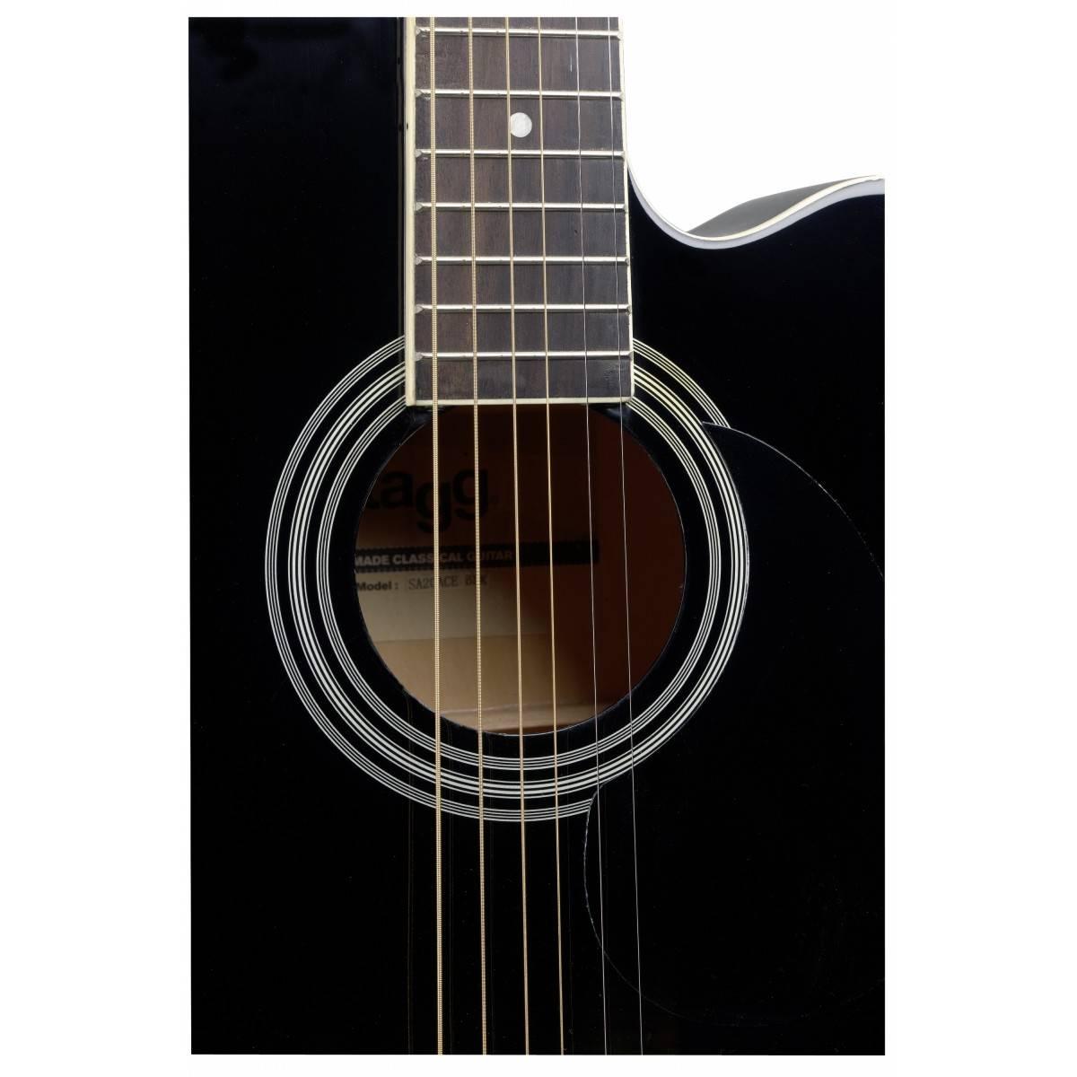 Guitare Folk Electro-Acoustique Noir