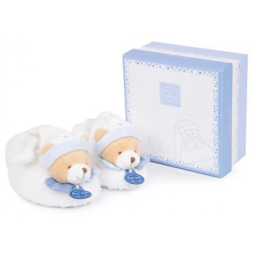 Chaussons avec hochet 6-12 mois - ours Petit Chou