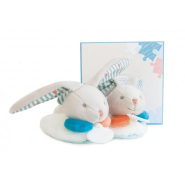 Chaussons avec hochet 6-12 mois - lapin Happy