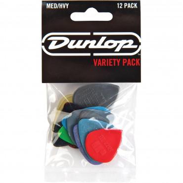 Sachet Variety Dunlop 12 médiators Pack Médium/Heavy