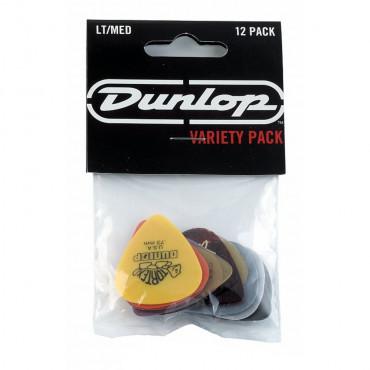 Sachet Variety Dunlop 12 médiators Pack Light/Médium