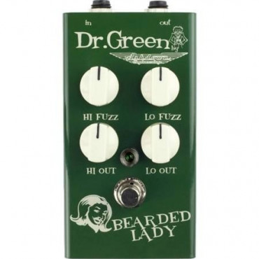 Pédale d'effet fuzz/distorsion Bearded Lady Dr. Green