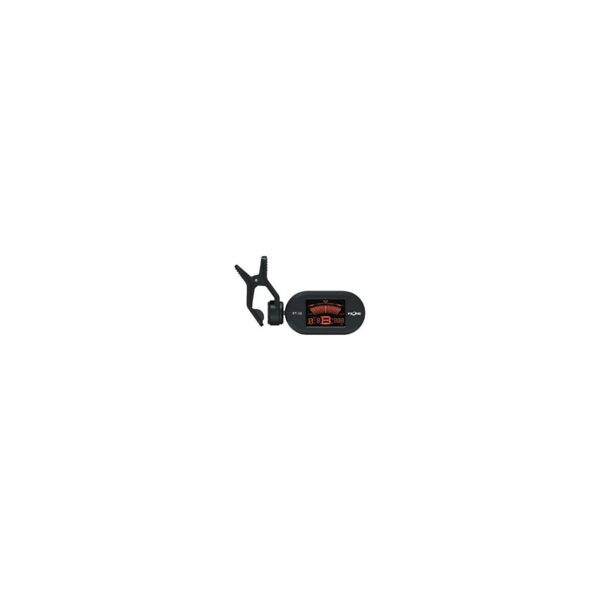Mini accordeur chromatique à pince noir