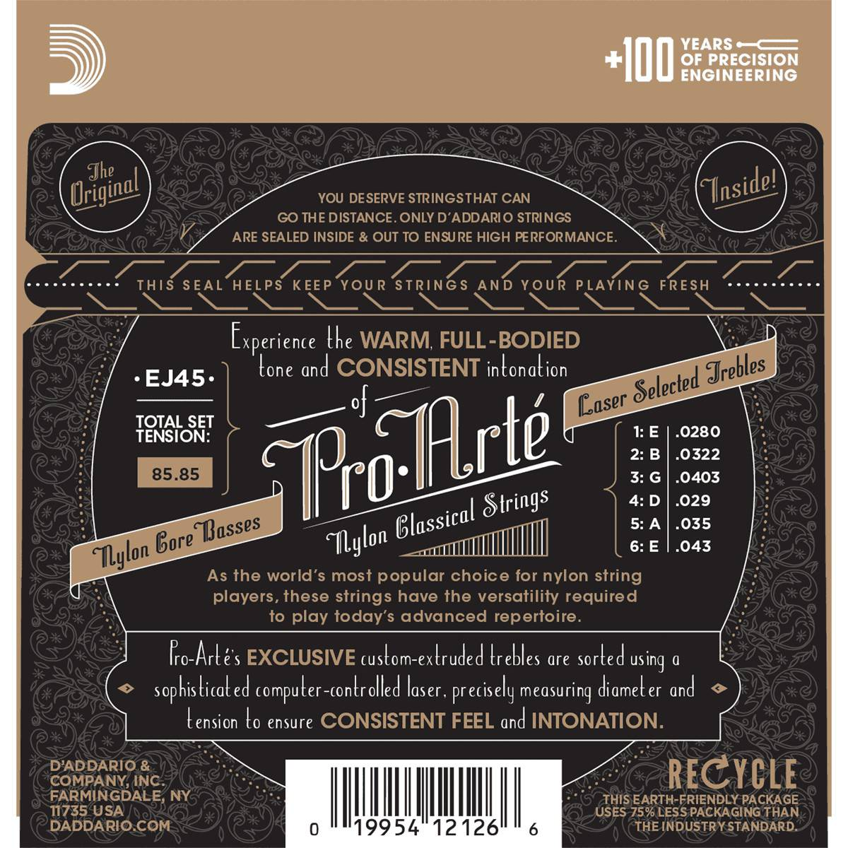 Cordes Guitare Classique Pro Arte D'Addario EJ45
