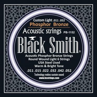 Jeu de cordes pour guitare Black Smith ACOUSTIQUE 11-52