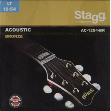 Cordes guitare acoustique AC-1254-BR bronze