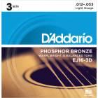 Pack Cordes Acoustiques D'Addario EJ16-3D Light
