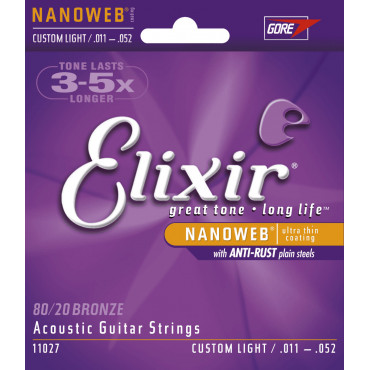 Cordes Elixir Nanoweb Bronze Custom Light 11027