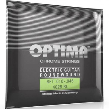 Cordes guitare électrique 10/46 Optima Chrome Light
