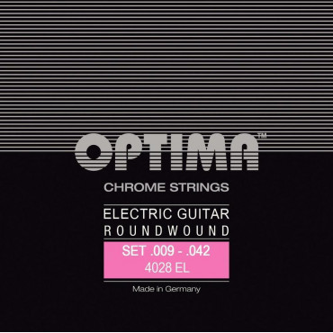 Cordes Optima Guitare Electrique Chrome Extra light 09/42