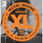 Pack 3 Jeux de Cordes D'Addario EXL110-3D