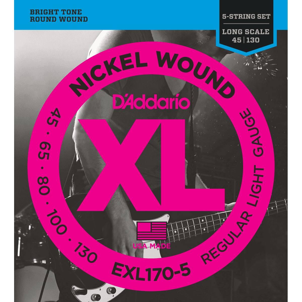 Jeu 5 Cordes D'Addario EXL 170-5 bass
