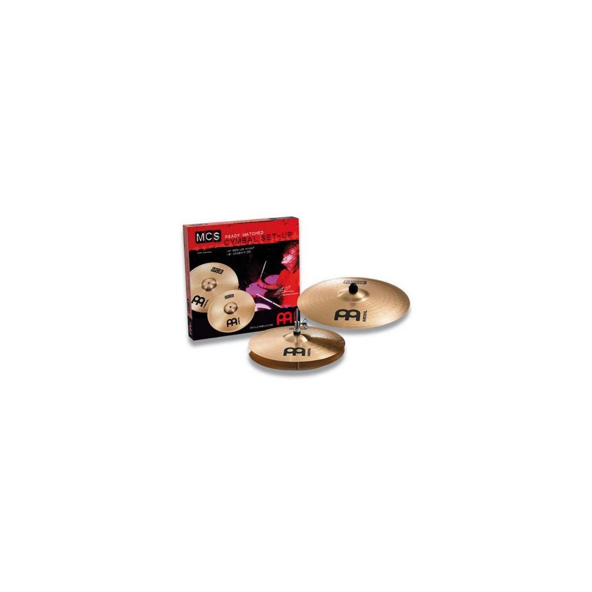 Jeu de Cymbales Bronze MEINL MCS 14/18