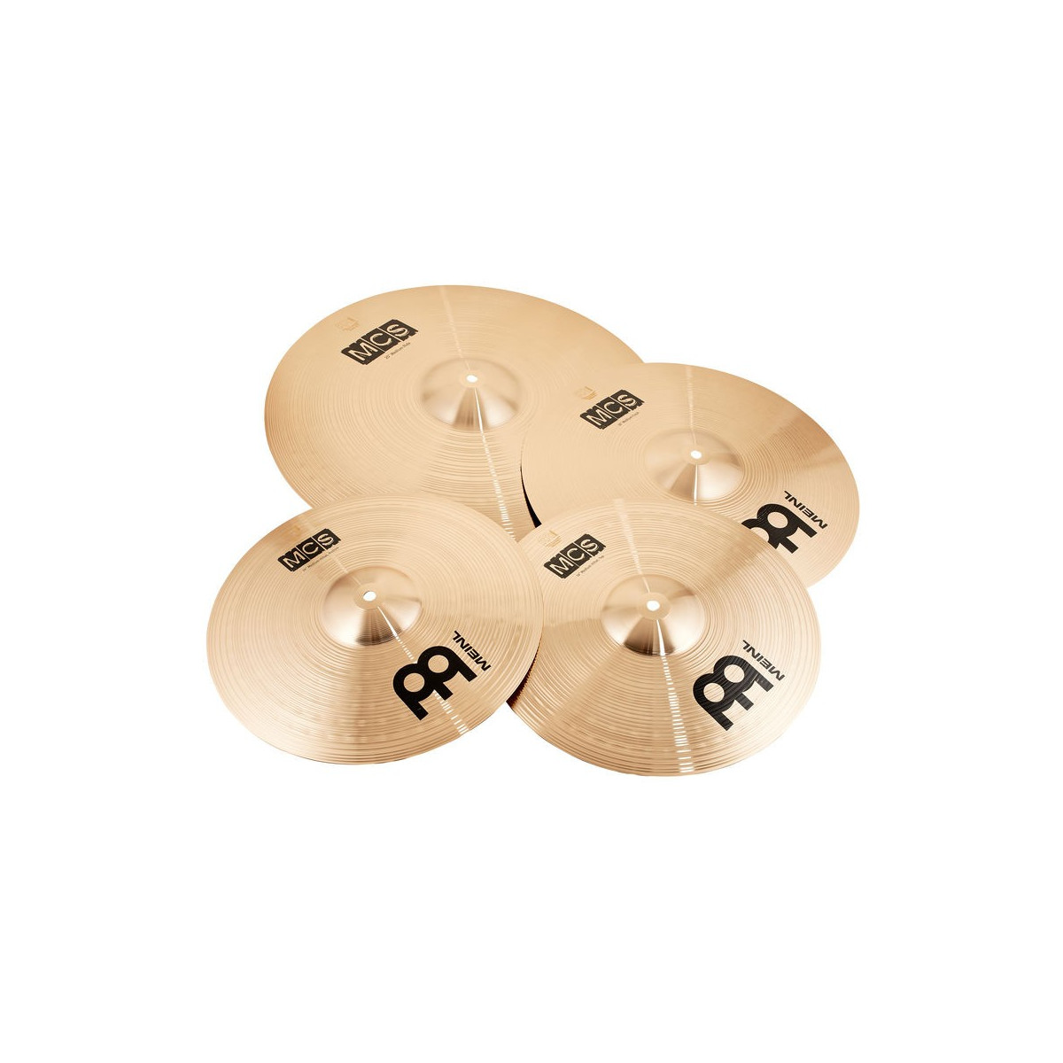 "Jeu de Cymbales Bronze MEINL 14/16/20 + CRASH 18"""