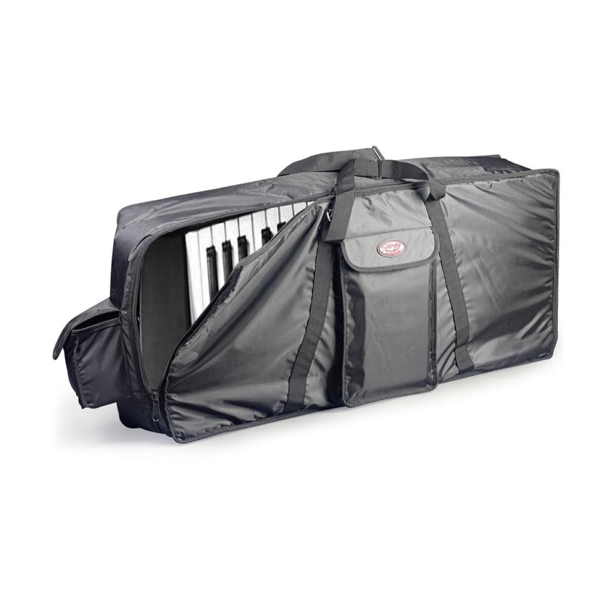 Housse standard en nylon noir pour clavier 138cm