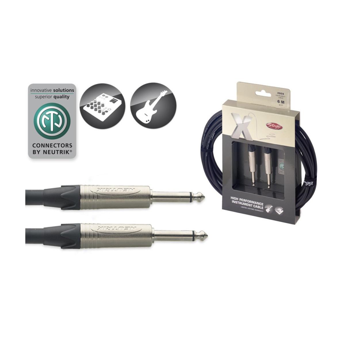 Câble standard instrument, jack/ jack, série