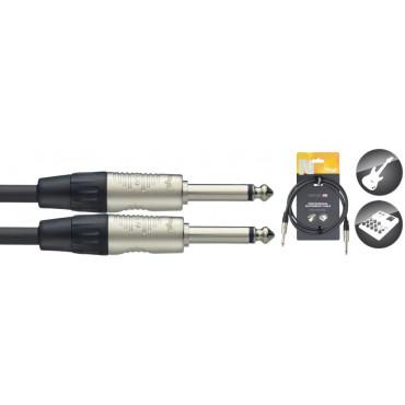 Câble professionnel instrument, jack / jack, série