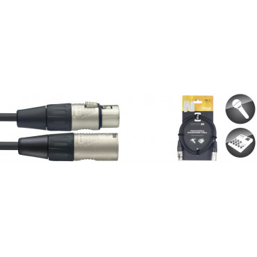 Câble professionnel micro XLR m. / XLR f., série