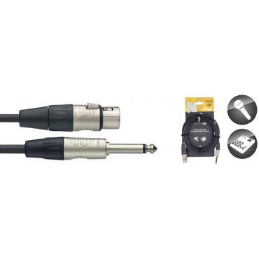 Câble micro, série N - XLR F / Jack 3M mono