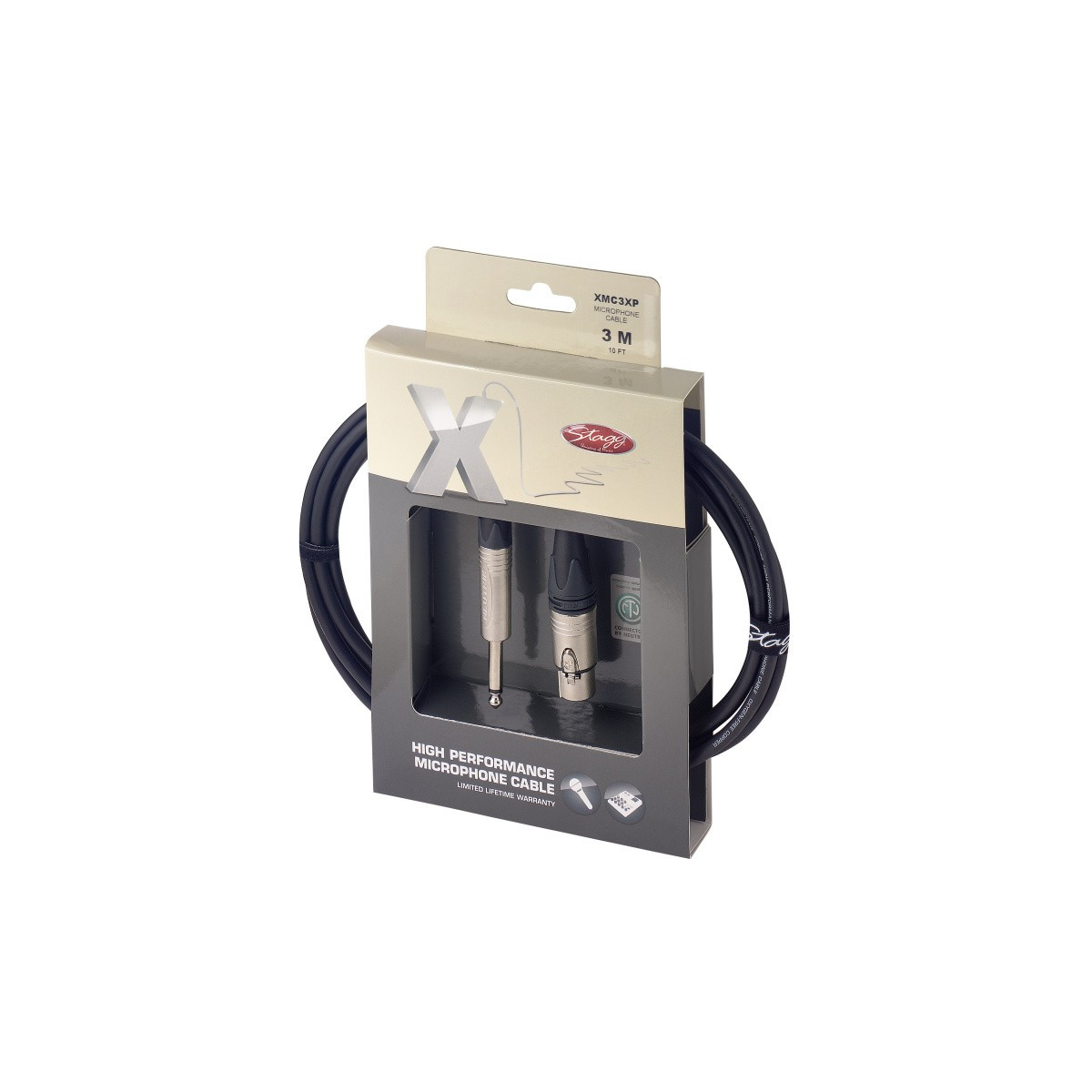 Câble micro XLR f/jack, 3m