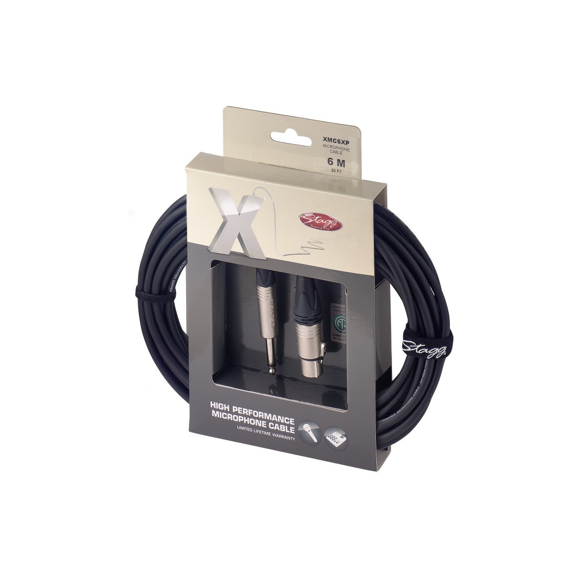Câble micro XLR f/jack, 6m série