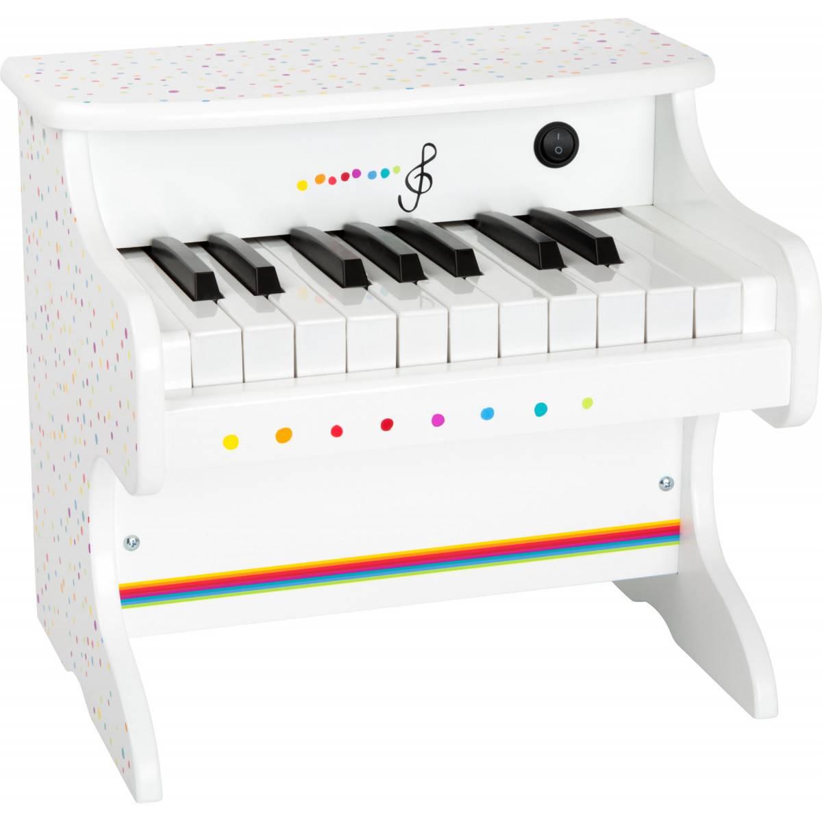 Piano jouet électrique blanc - 18 touches
