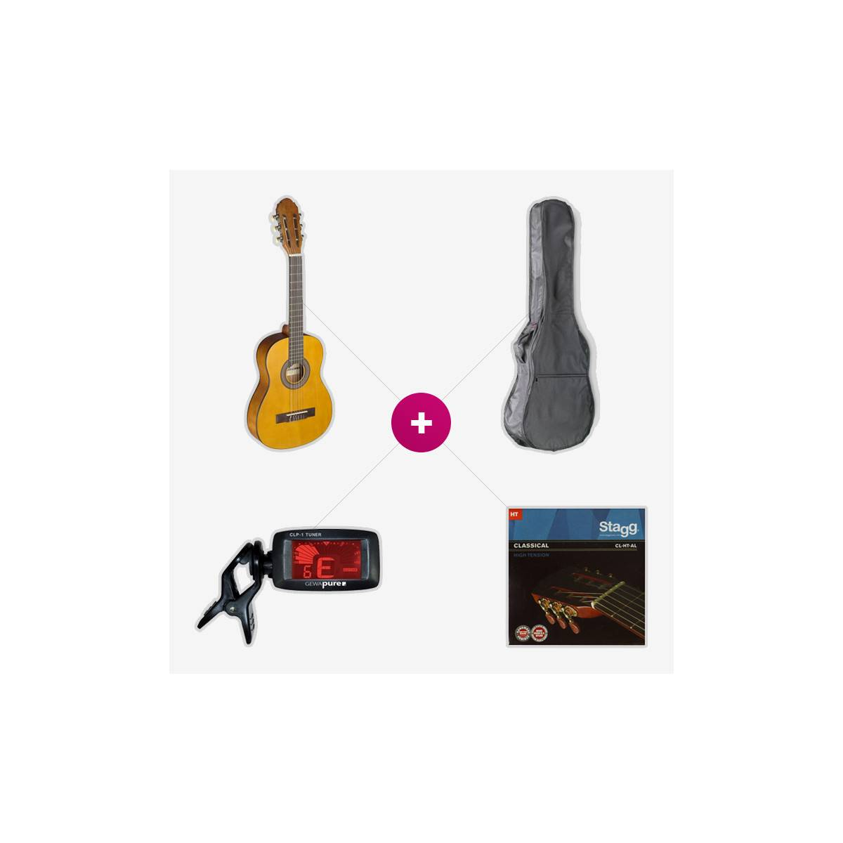 Pack Guitare 1/4 Eco Naturel