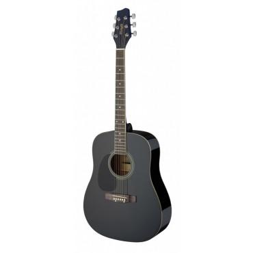 Guitare Gaucher enfant Noir 3/4 folk