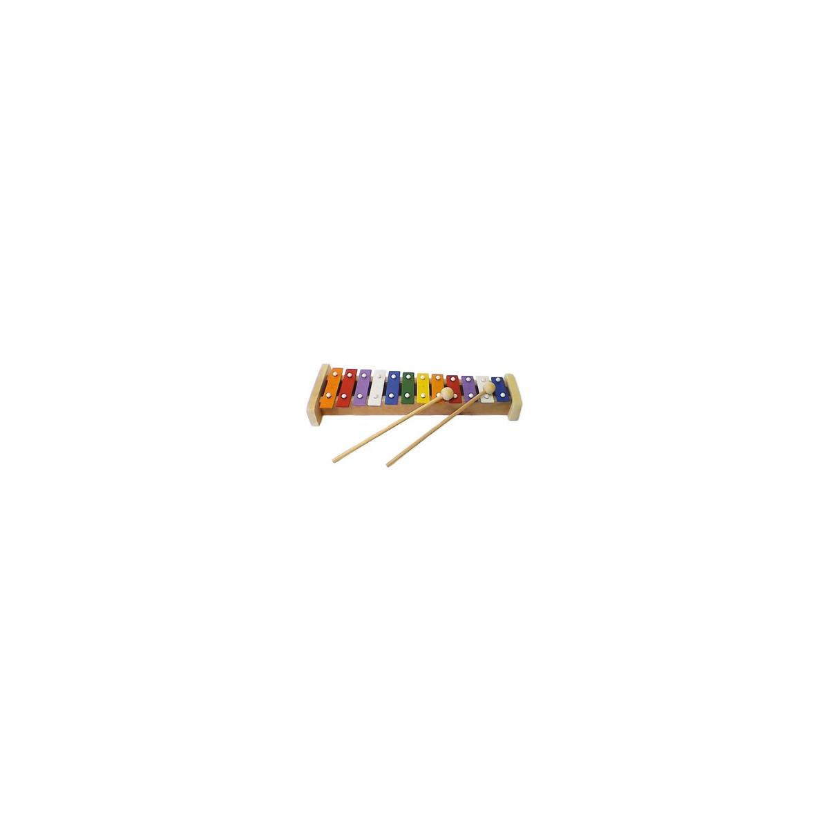 Métallophone 12 tons coloré
