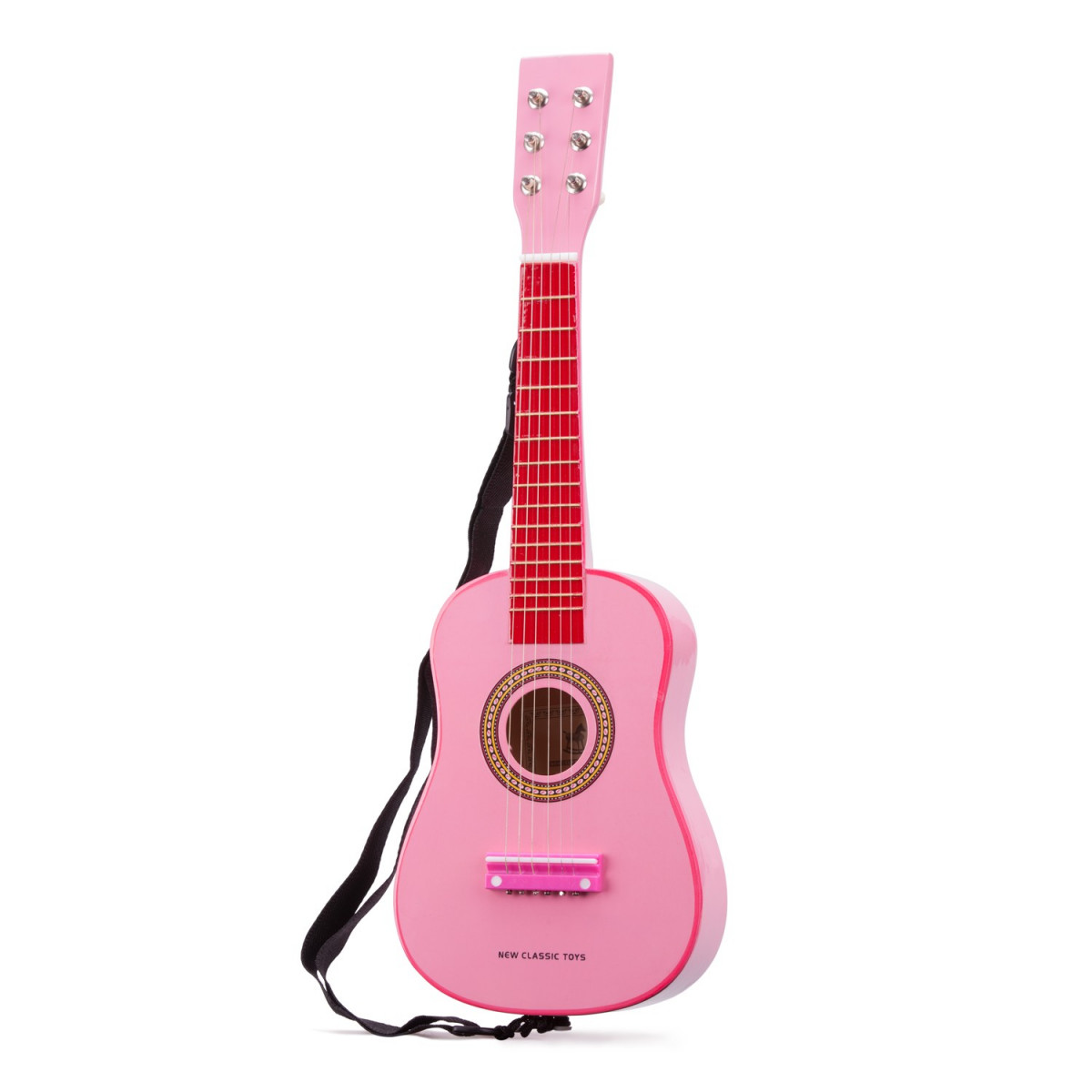 Guitare jouet rose