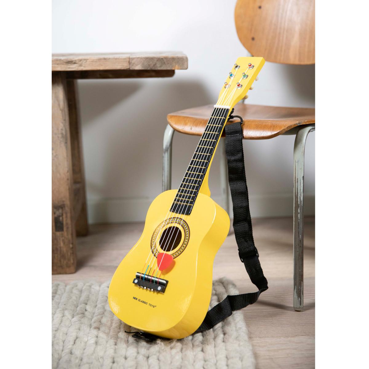 Guitare jouet jaune