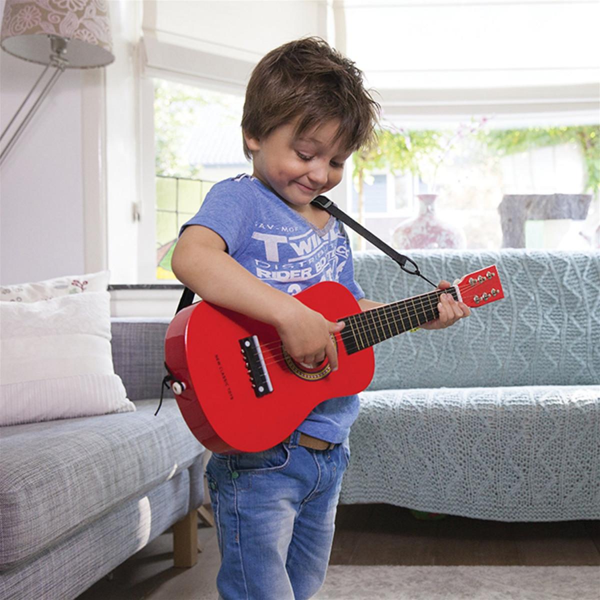 Guitare jouet rouge