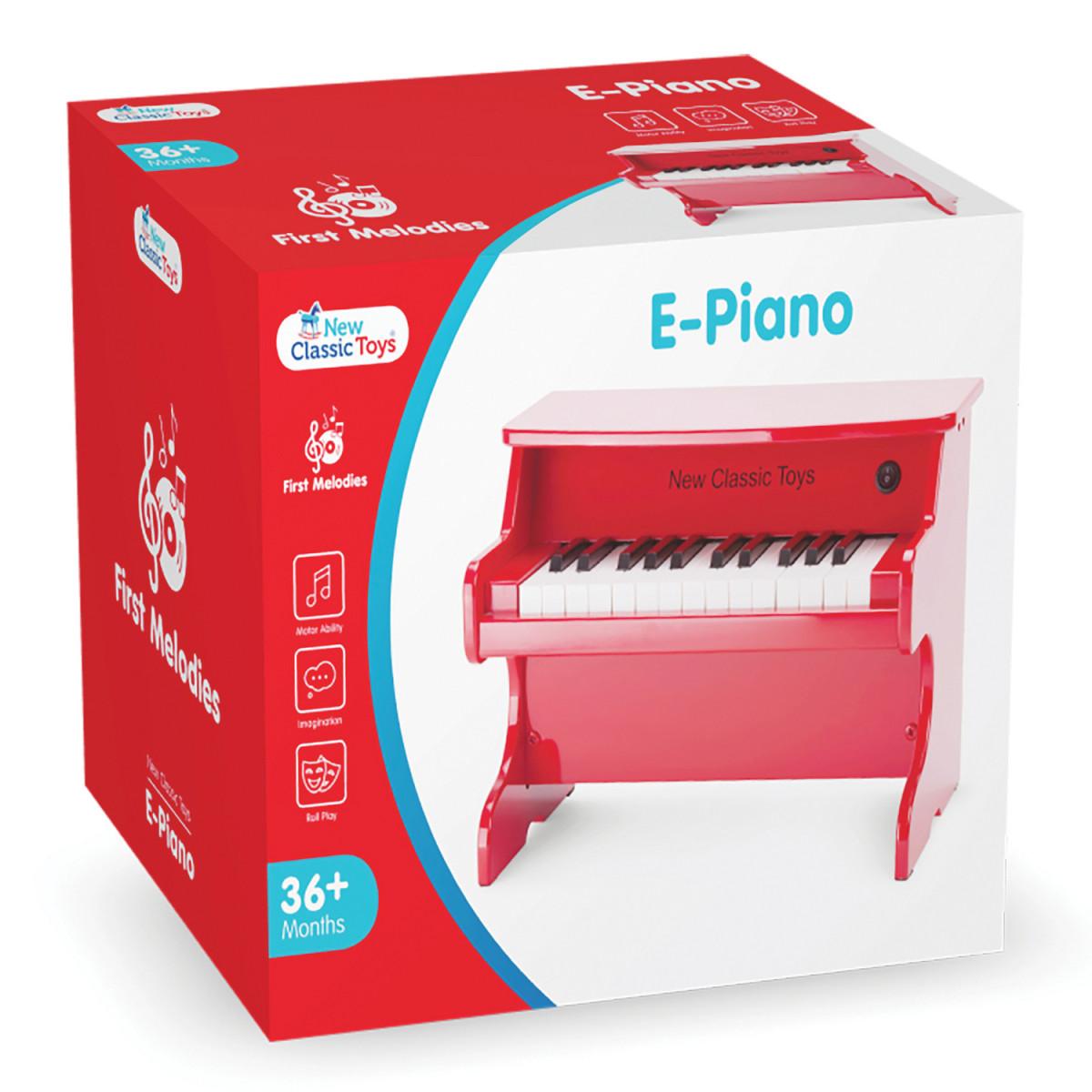 Piano-Jouet électrique Rouge - 25 notes