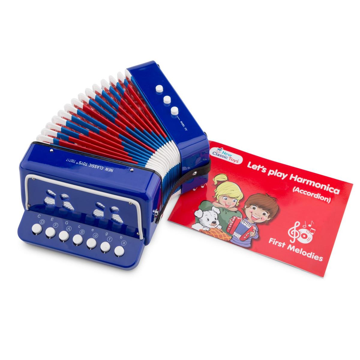 Accordéon jouet Bleu - Petit